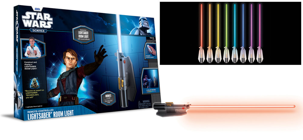 lampe sabre laser star wars science. Black Bedroom Furniture Sets. Home Design Ideas