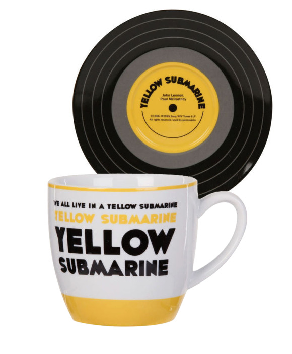 Set mug et soucoupe Beatles Yellow submarine