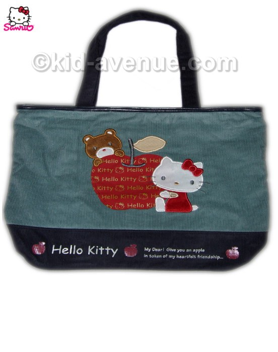 Sac Kitty Cabas Velours Hello L35qcARj4S